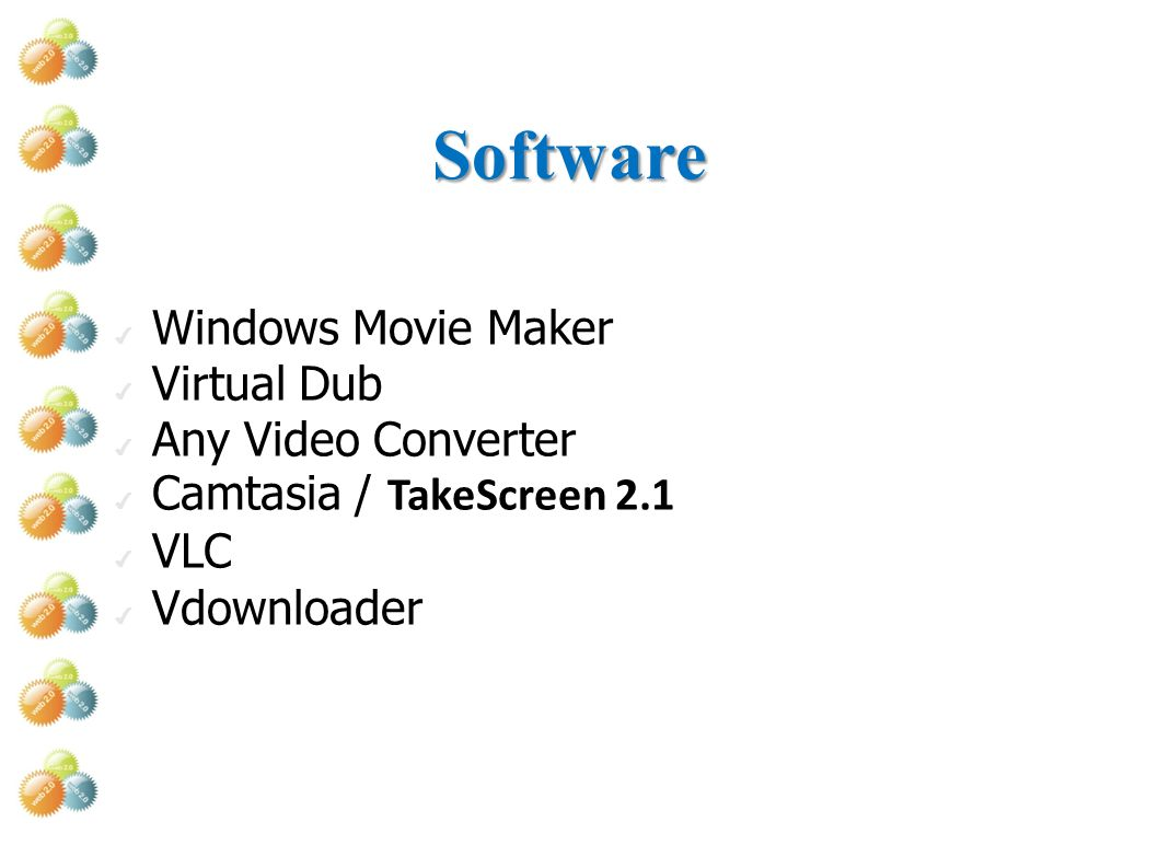 Software Windows Movie Maker Virtual Dub Any Video Converter