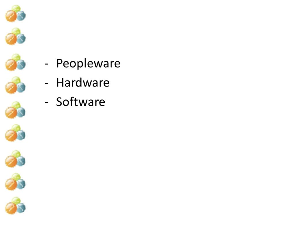 Peopleware Hardware Software