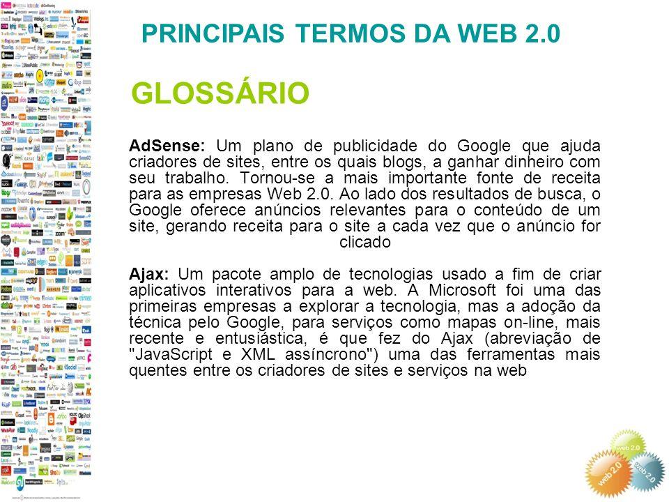 GLOSSÁRIO PRINCIPAIS TERMOS DA WEB 2.0