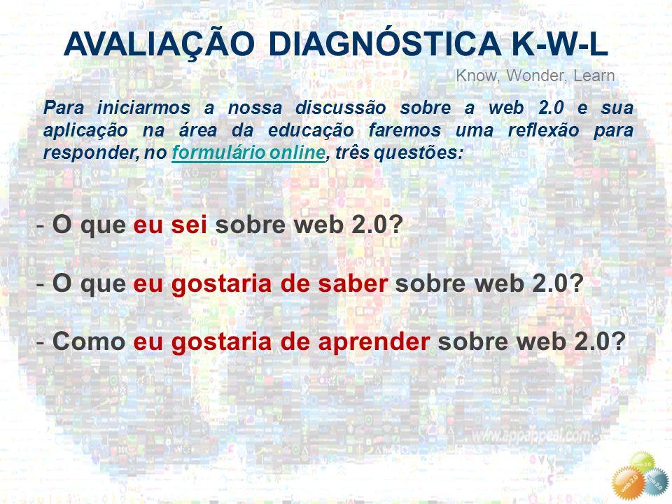 AVALIAÇÃO DIAGNÓSTICA K-W-L