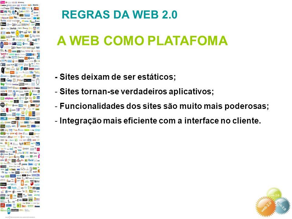 A WEB COMO PLATAFOMA REGRAS DA WEB 2.0