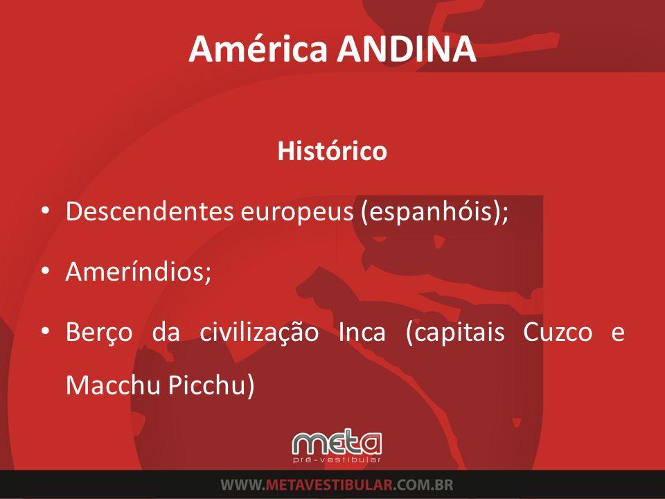 América ANDINA Histórico Descendentes europeus (espanhóis);
