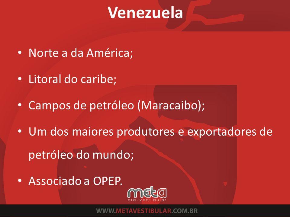 Venezuela Norte a da América; Litoral do caribe;