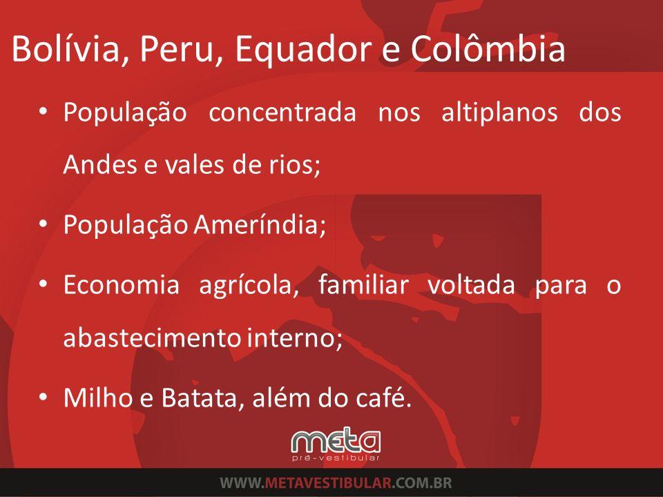 Bolívia, Peru, Equador e Colômbia