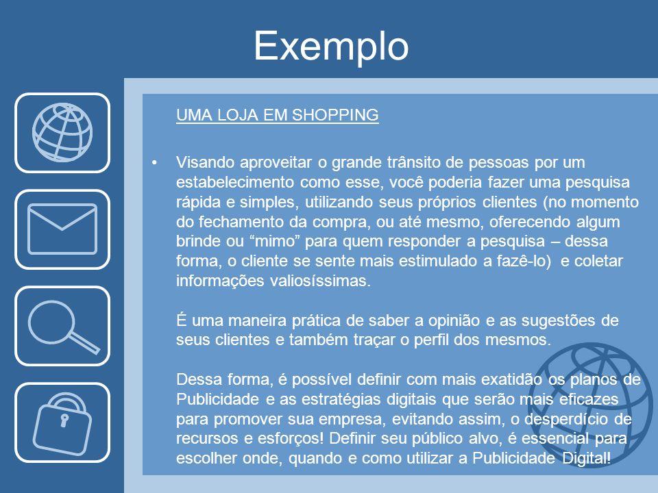 Exemplo UMA LOJA EM SHOPPING