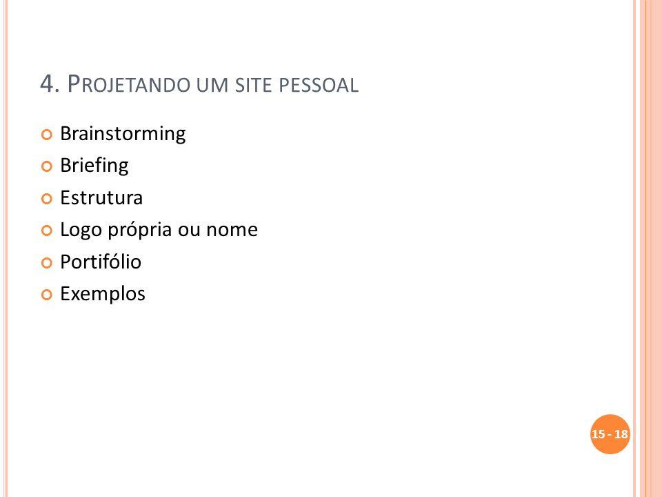 4. Projetando um site pessoal