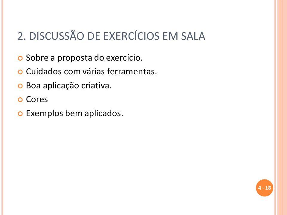 2. DISCUSSÃO DE EXERCÍCIOS EM SALA