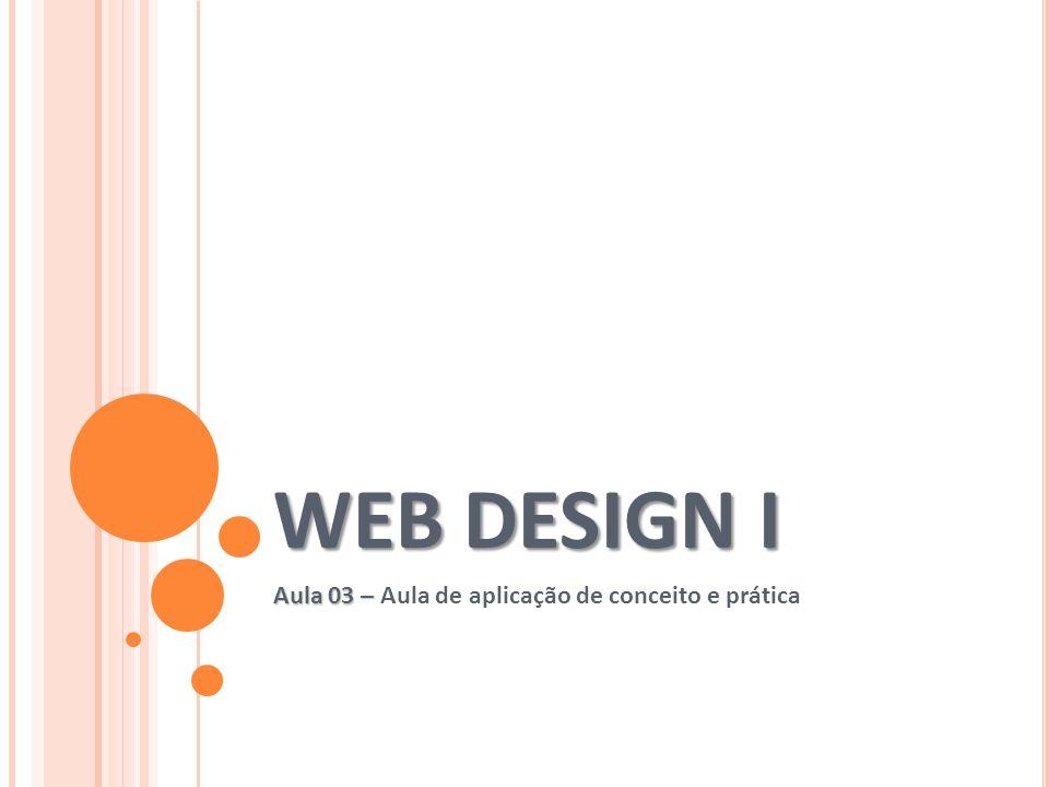 Aula 03 – Aula de aplicação de conceito e prática