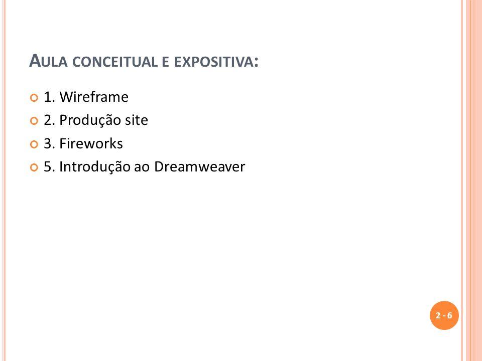 Aula conceitual e expositiva: