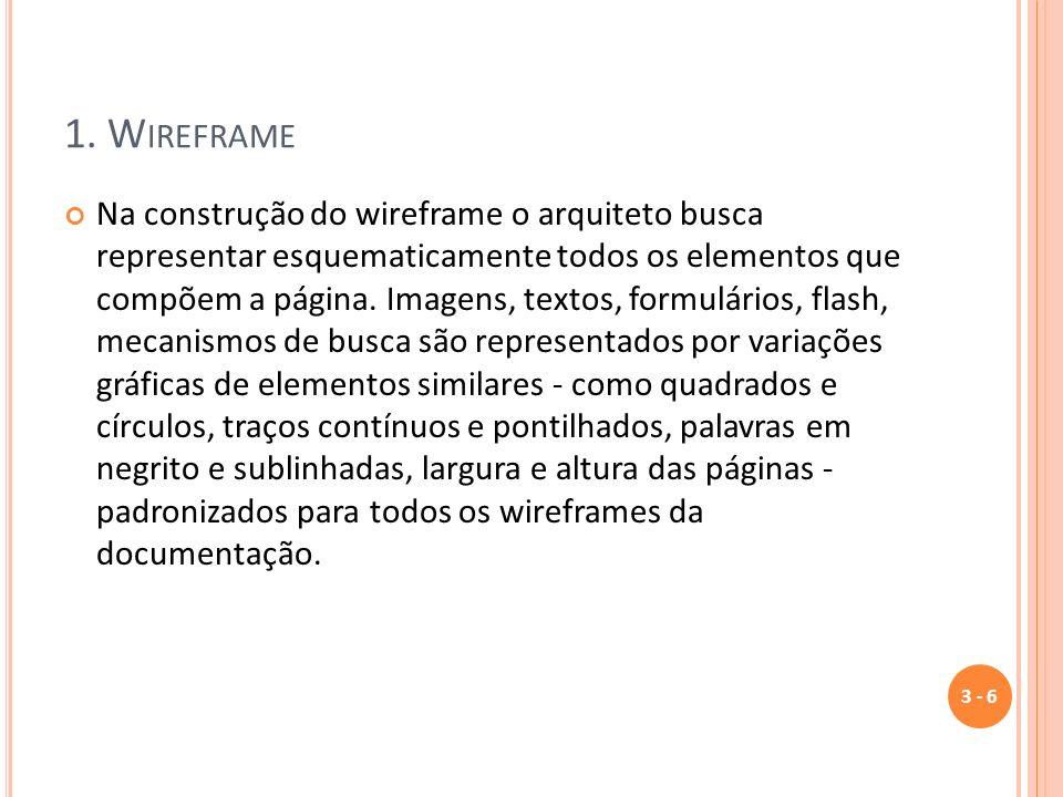 1. Wireframe