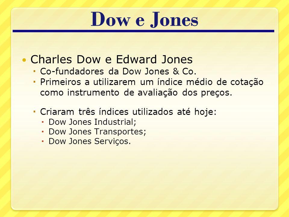 Dow e Jones Charles Dow e Edward Jones