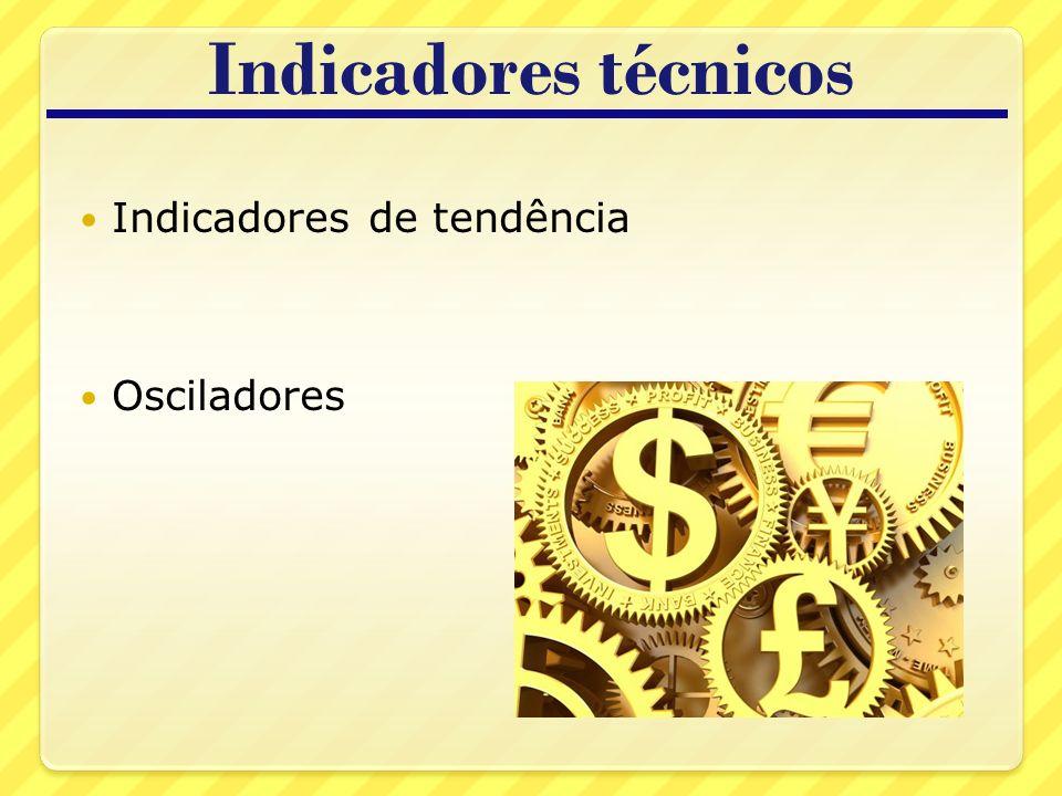Indicadores técnicos Indicadores de tendência Osciladores