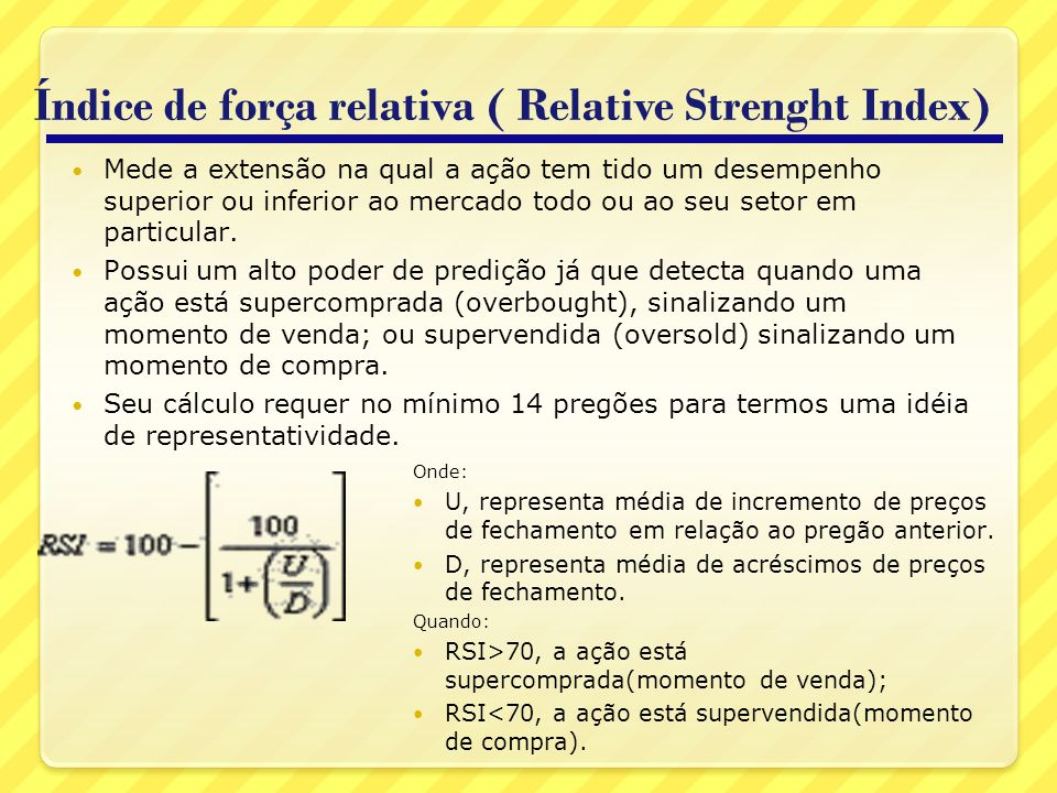 Índice de força relativa ( Relative Strenght Index)