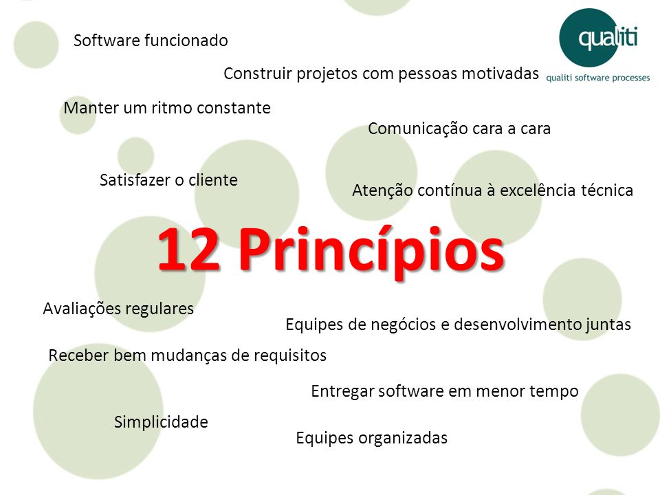 12 Princípios Software funcionado
