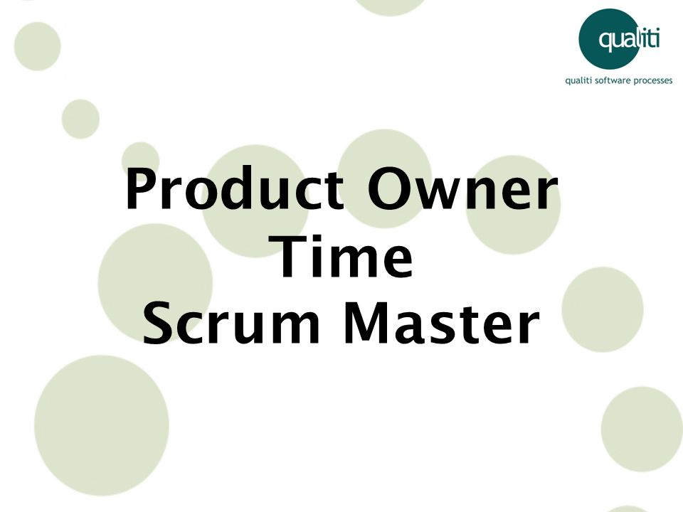 Product Owner Time Scrum Master