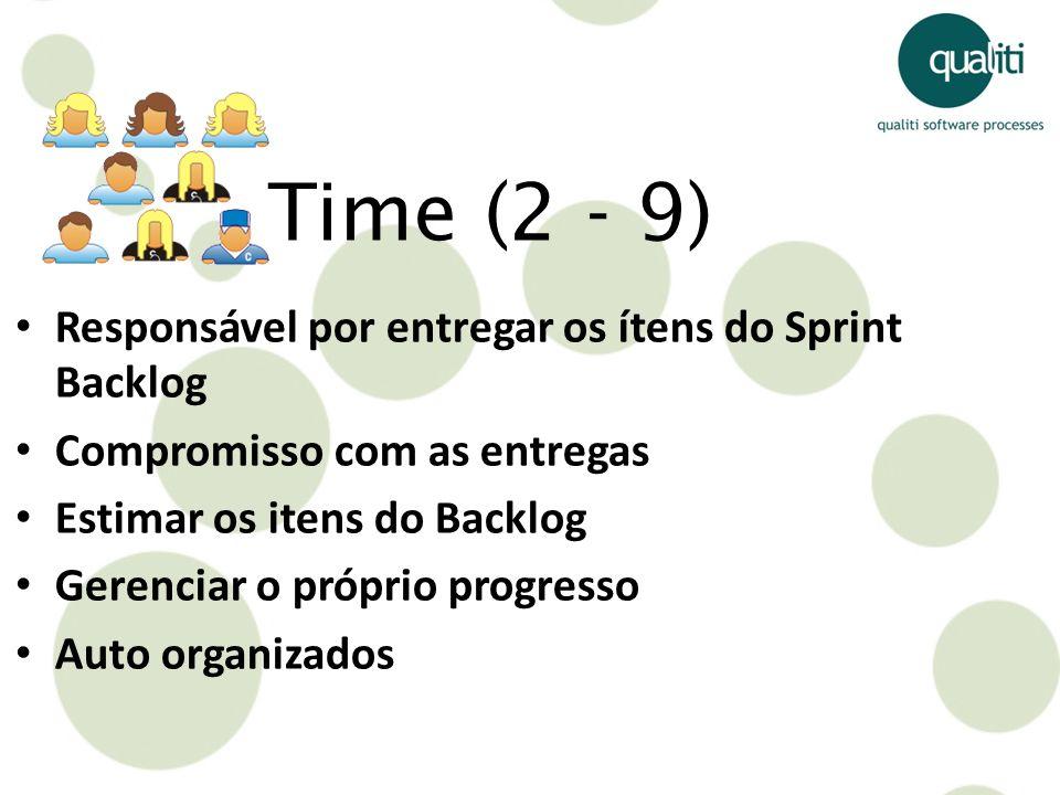 Time (2 - 9) Responsável por entregar os ítens do Sprint Backlog