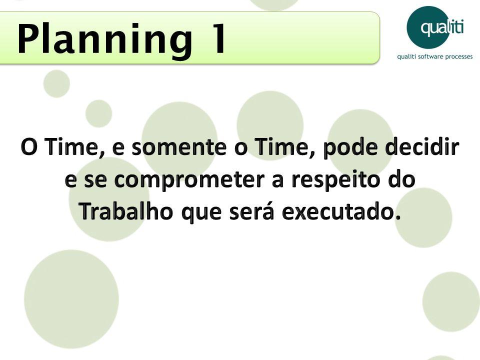 Planning 1 O Time, e somente o Time, pode decidir