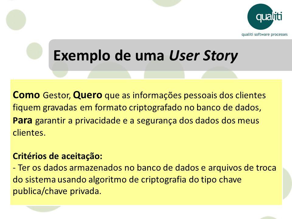 Exemplo de uma User Story