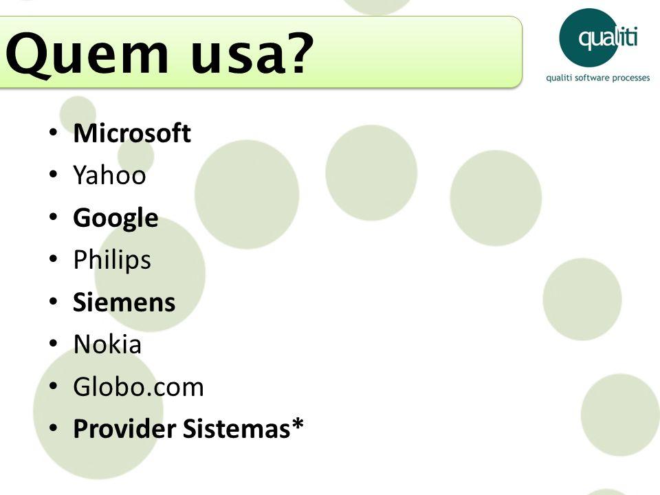 Quem usa Microsoft Yahoo Google Philips Siemens Nokia Globo.com