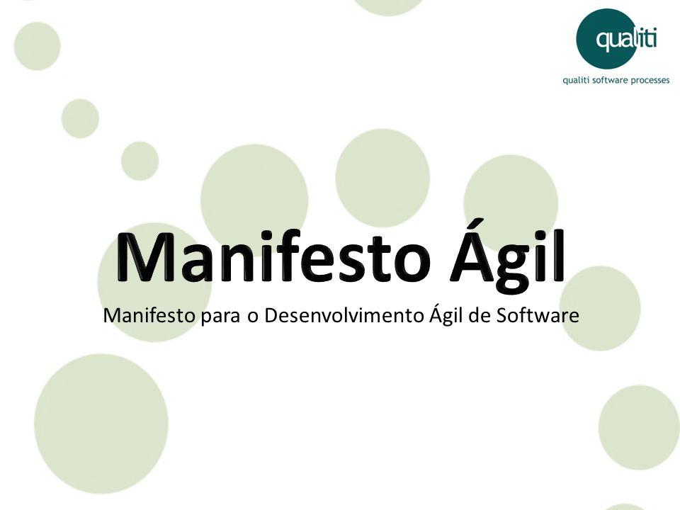Manifesto Ágil Manifesto para o Desenvolvimento Ágil de Software