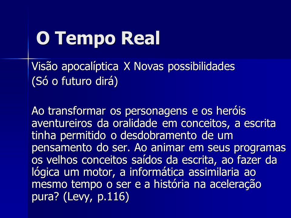 O Tempo Real Visão apocalíptica X Novas possibilidades