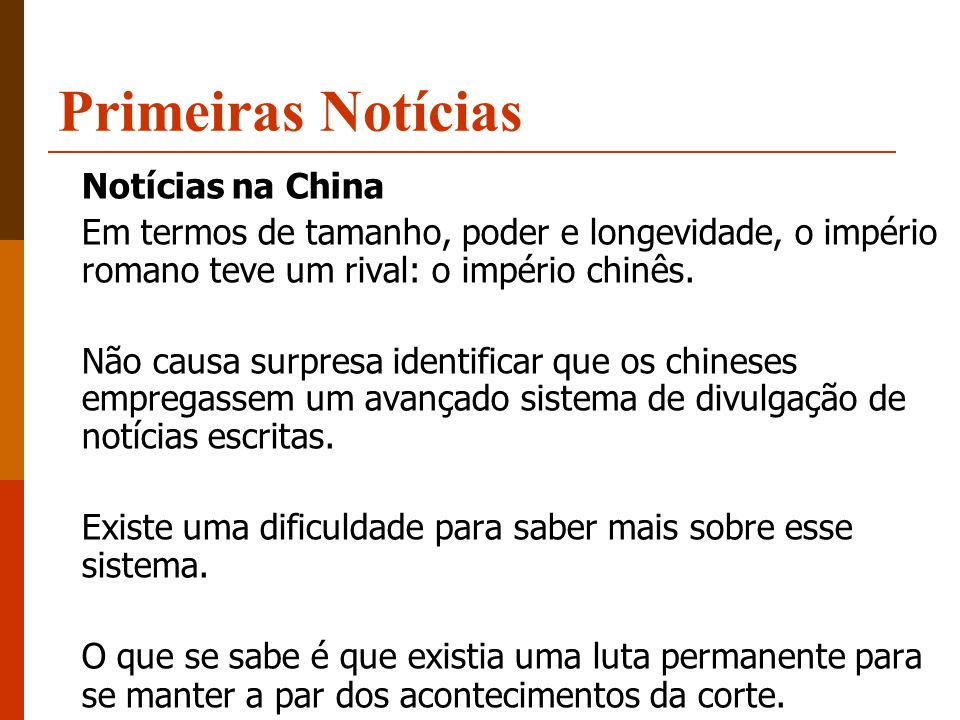 Primeiras Notícias Notícias na China