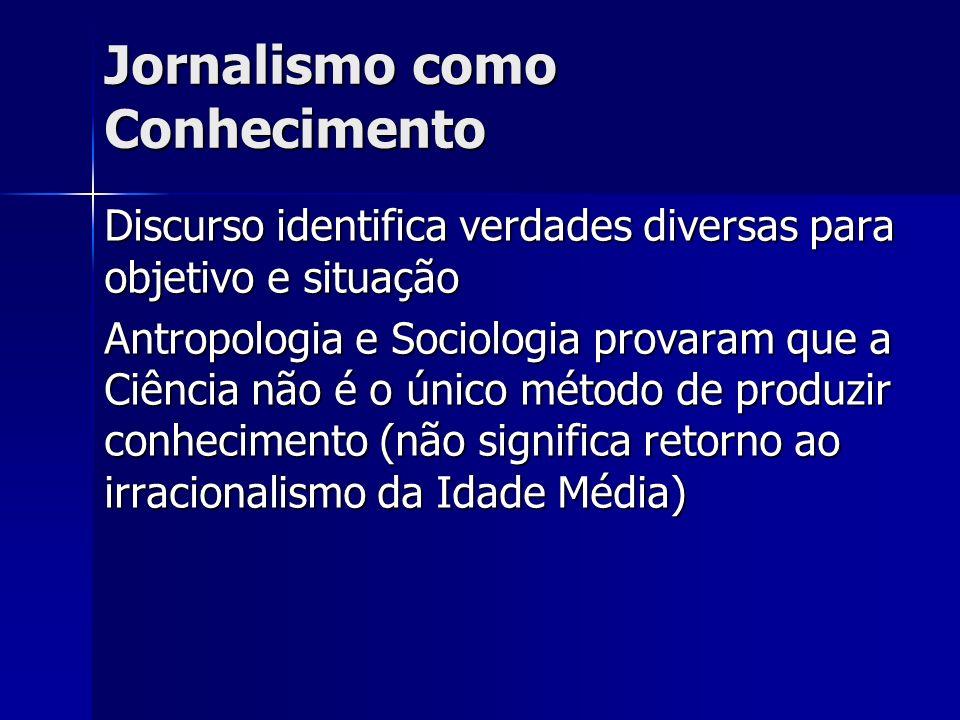 Jornalismo como Conhecimento
