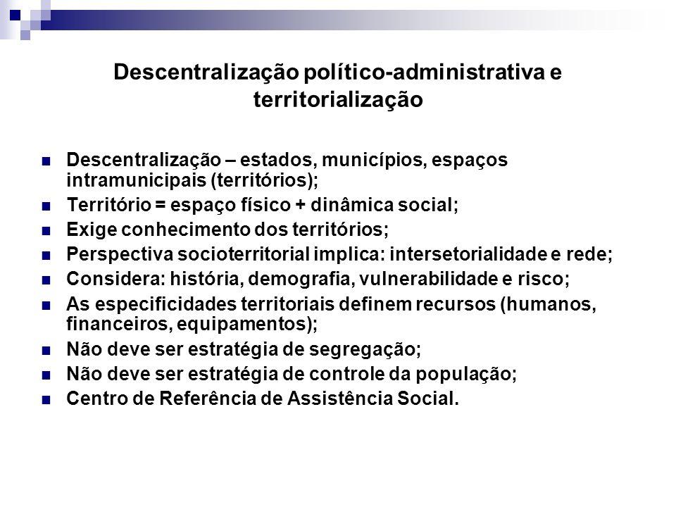 Descentralização político-administrativa e territorialização