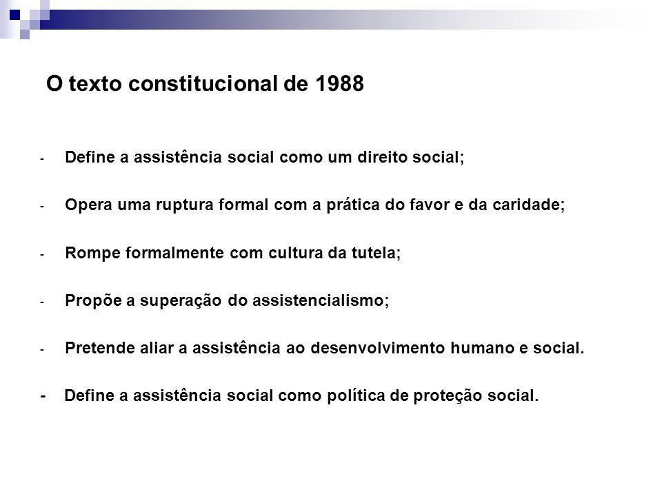 O texto constitucional de 1988