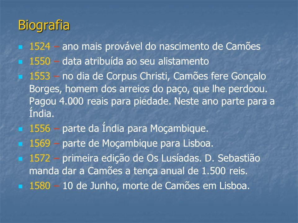 Biografia 1524 – ano mais provável do nascimento de Camões