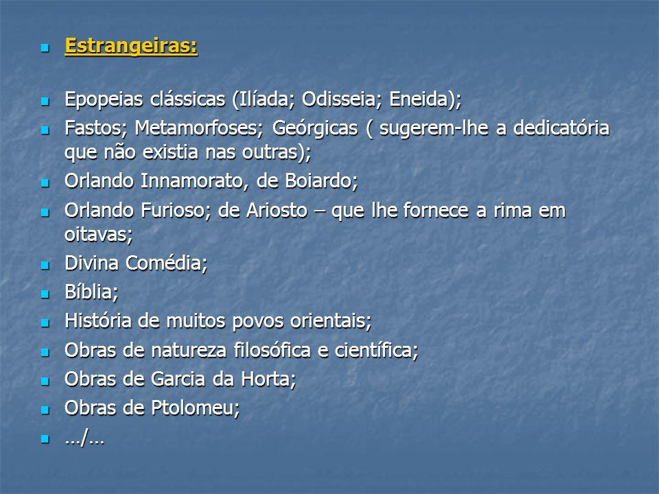 Estrangeiras: Epopeias clássicas (Ilíada; Odisseia; Eneida);