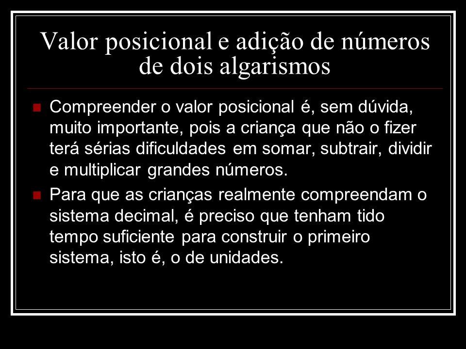 Valor posicional e adição de números de dois algarismos