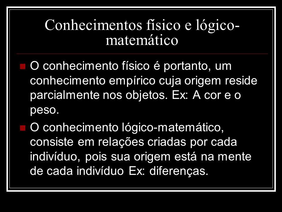 Conhecimentos físico e lógico-matemático