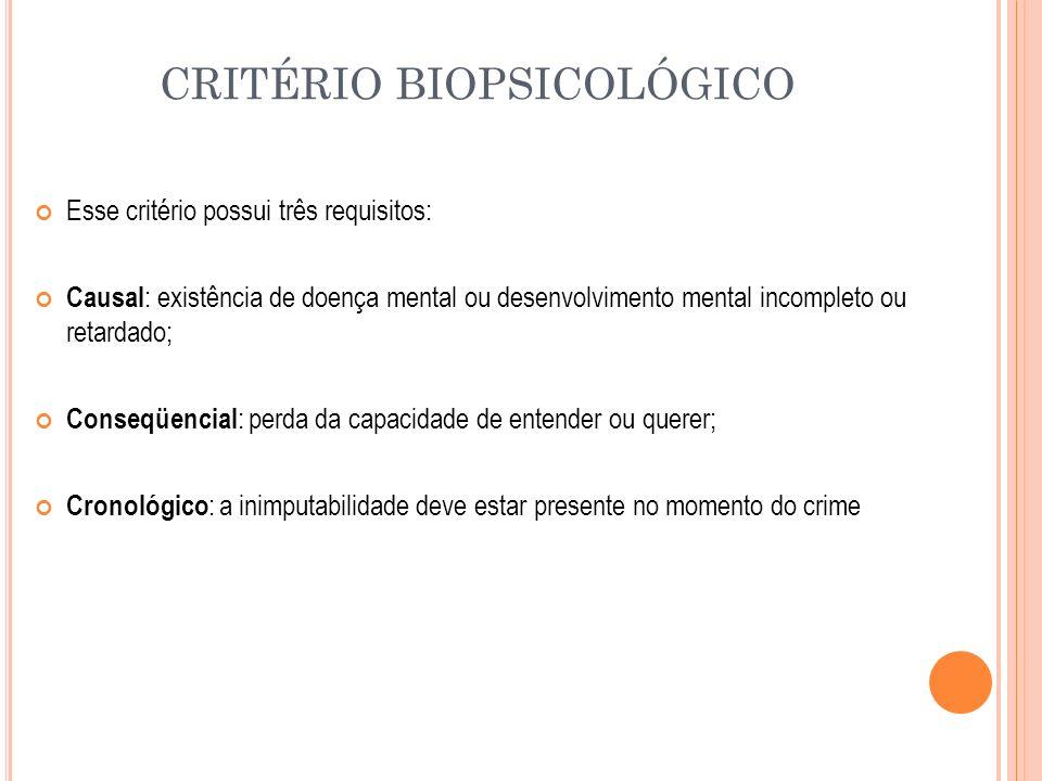 CRITÉRIO BIOPSICOLÓGICO
