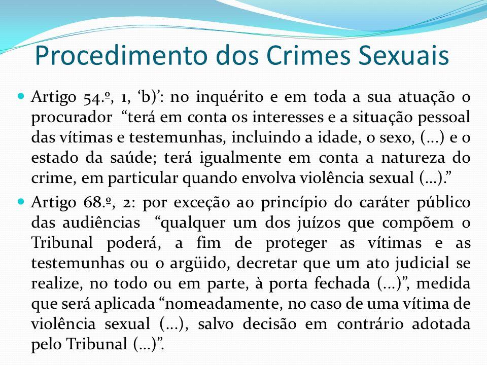 Procedimento dos Crimes Sexuais