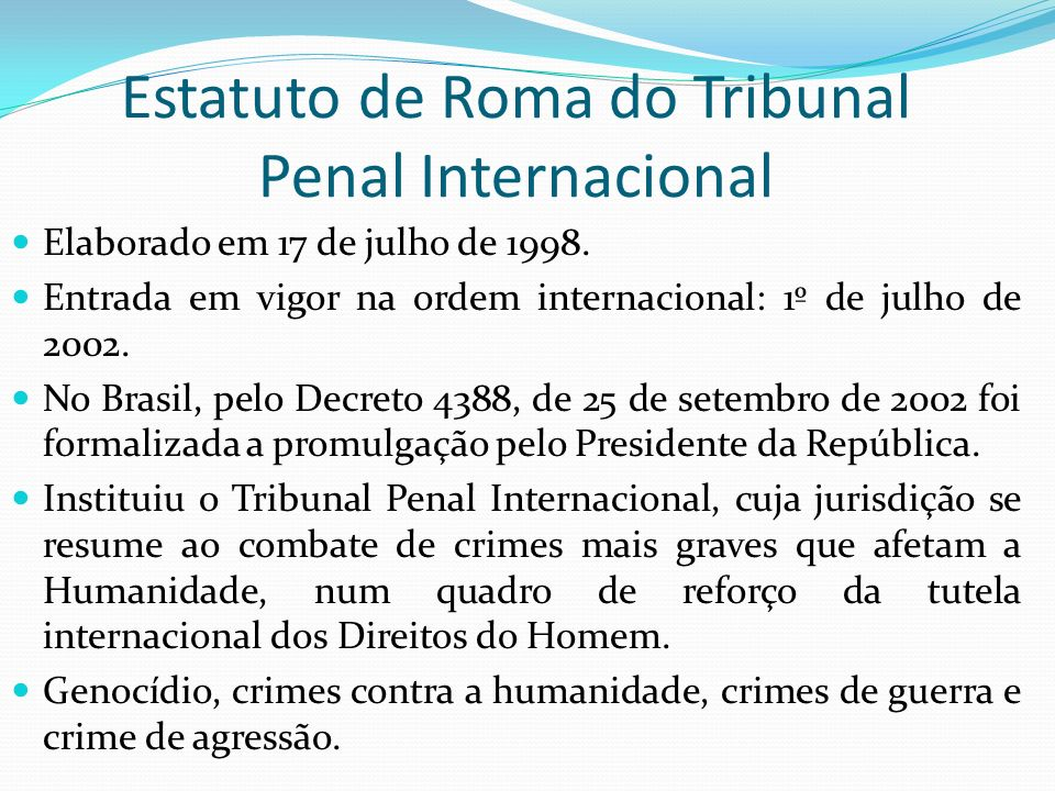 Estatuto de Roma do Tribunal Penal Internacional