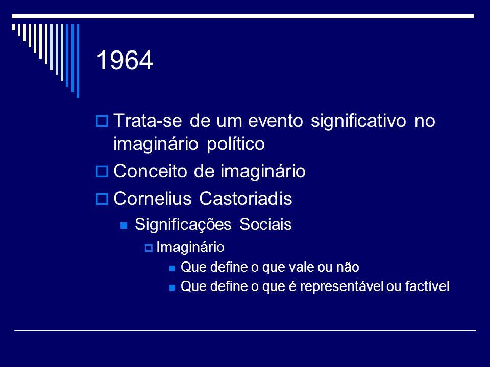 1964 Trata-se de um evento significativo no imaginário político