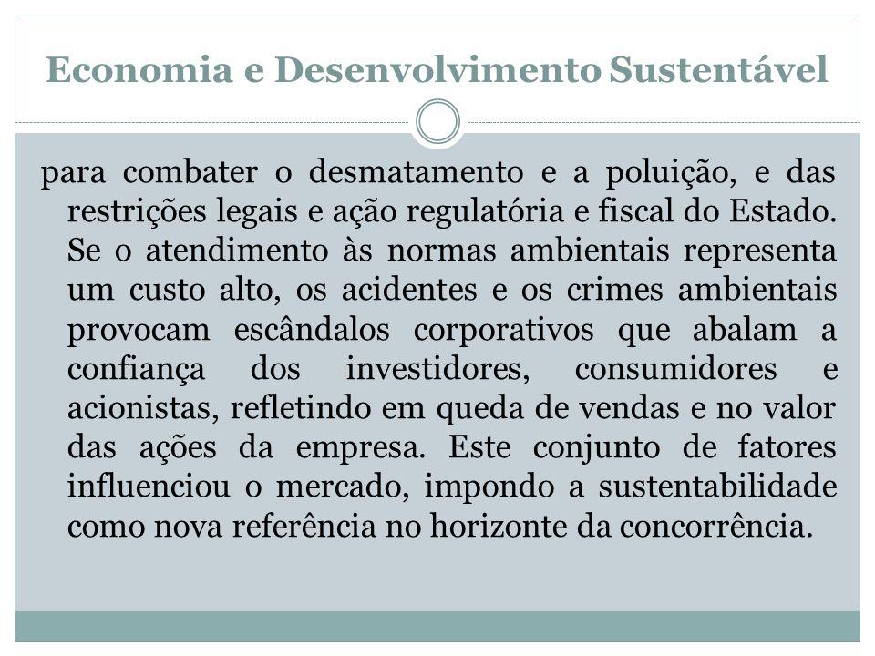 Economia e Desenvolvimento Sustentável