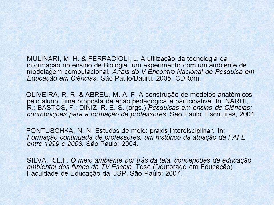 MULINARI, M. H. & FERRACIOLI, L