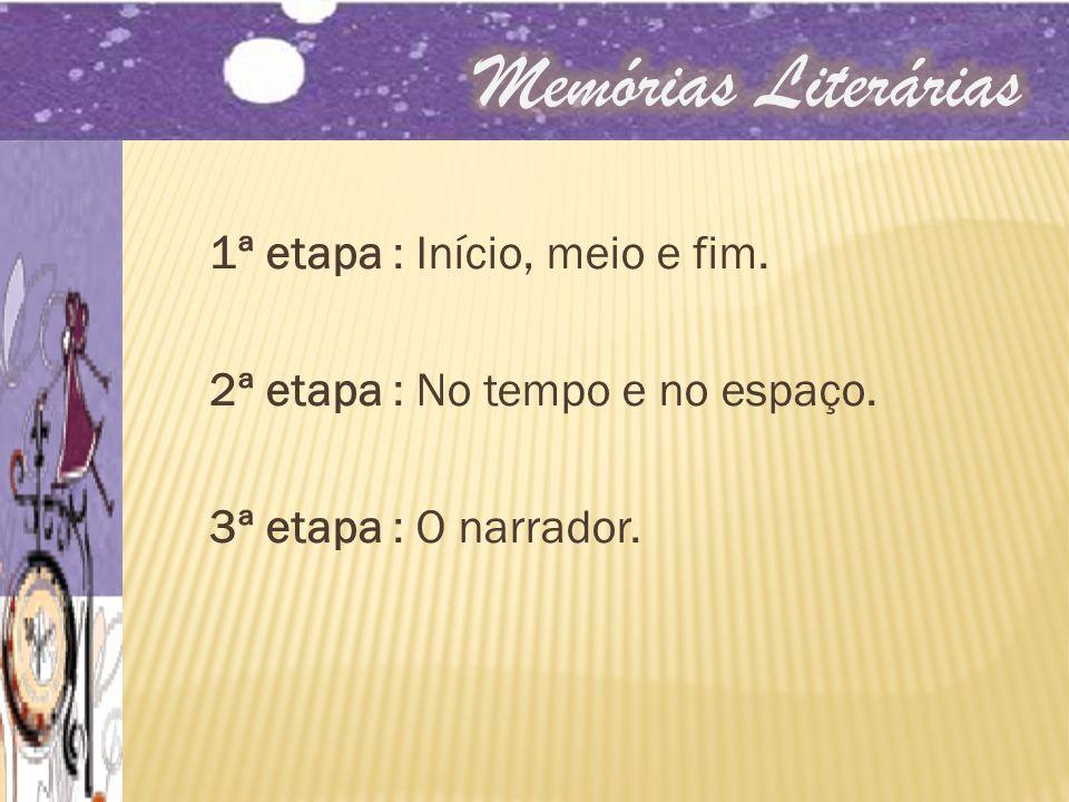 Memórias Literárias 1ª etapa : Início, meio e fim.