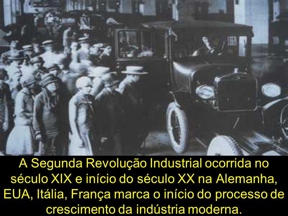 A Segunda Revolução Industrial ocorrida no século XIX e início do século XX na Alemanha, EUA, Itália, França marca o início do processo de crescimento da indústria moderna.