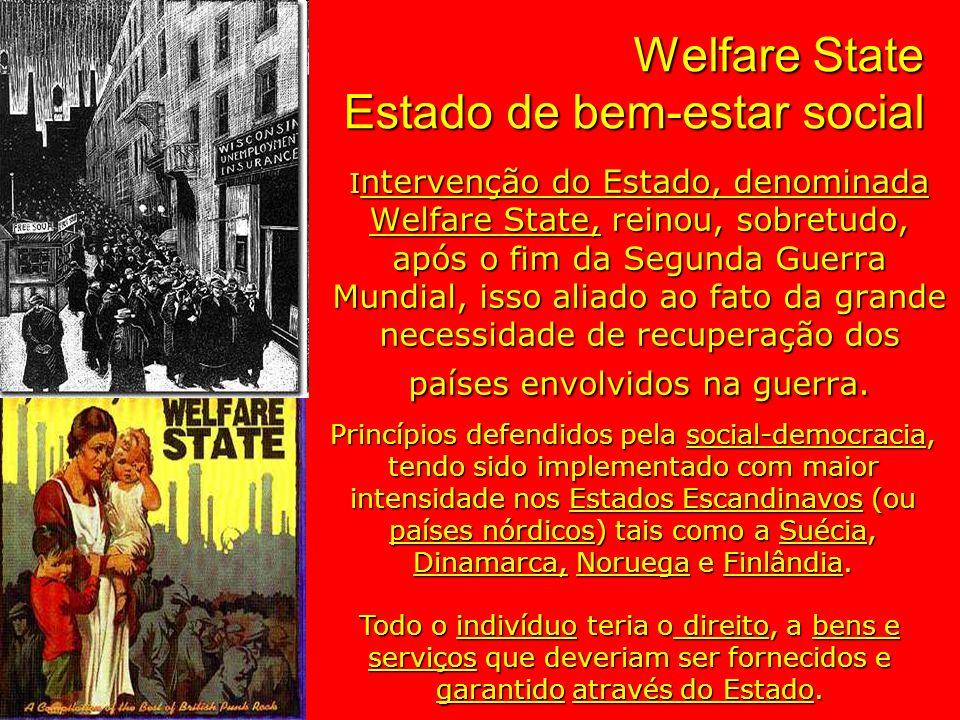 Welfare State Estado de bem-estar social