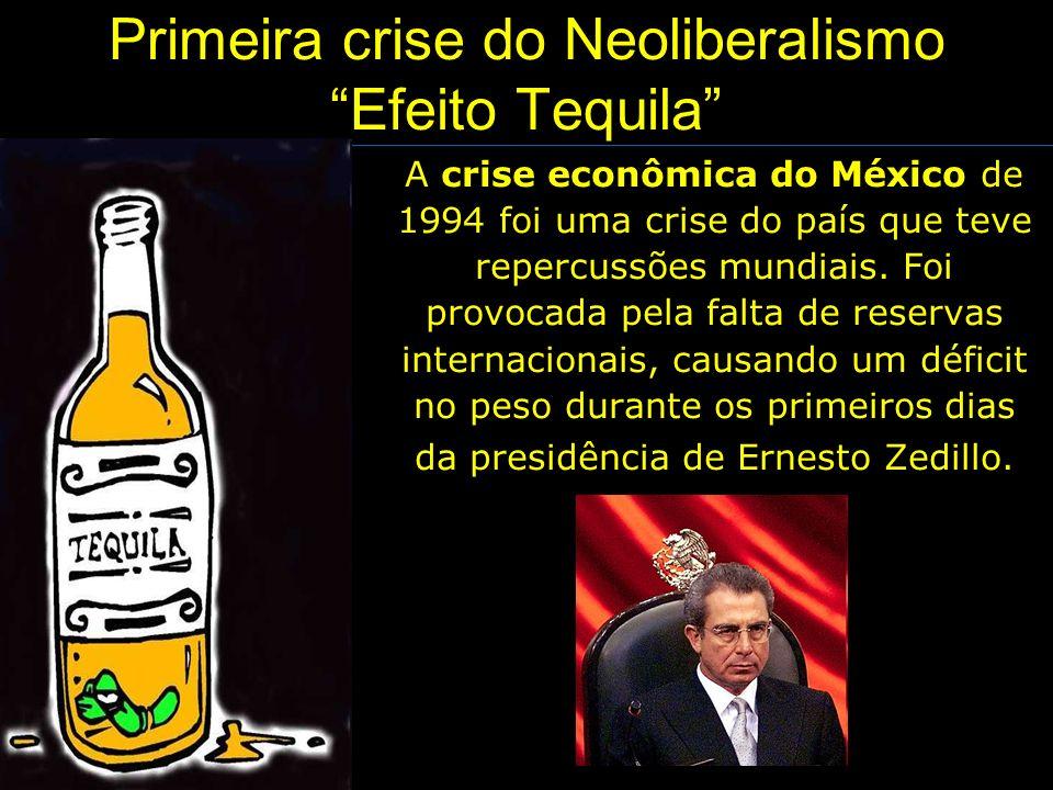 Primeira crise do Neoliberalismo Efeito Tequila