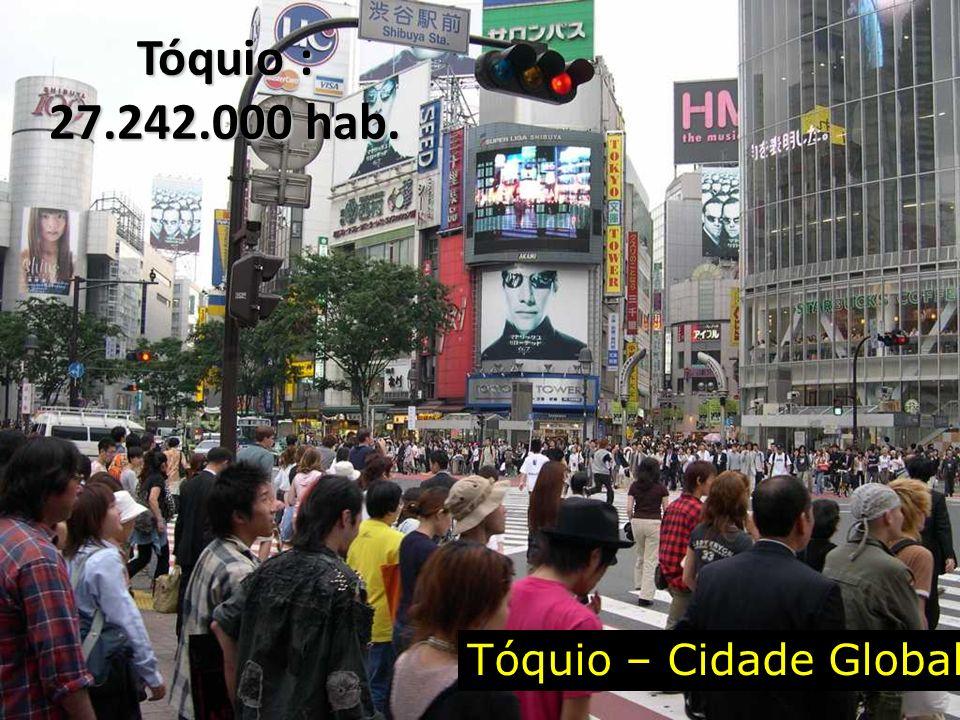 Tóquio : 27.242.000 hab. Tóquio – Cidade Global