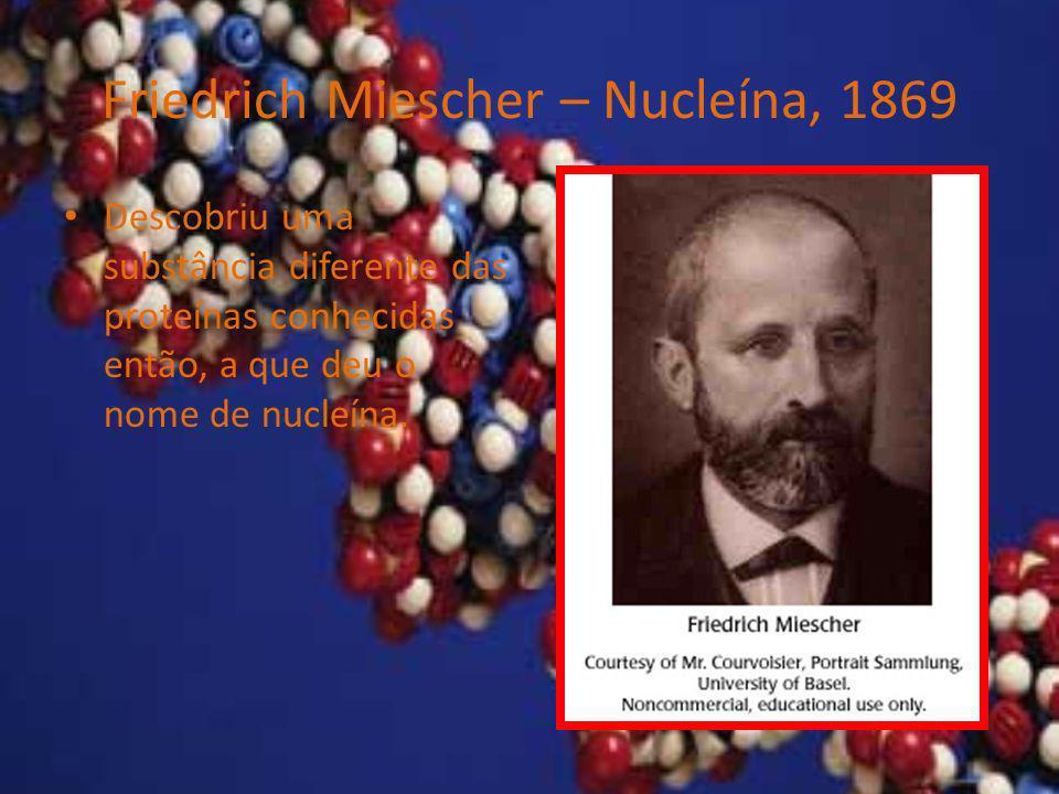 Friedrich Miescher – Nucleína, 1869
