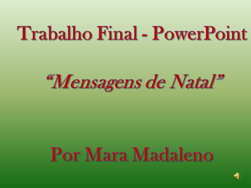 Trabalho Final - PowerPoint