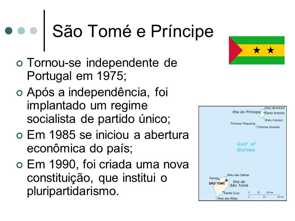 São Tomé e Príncipe Tornou-se independente de Portugal em 1975;