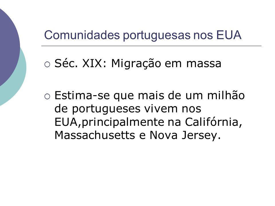 Comunidades portuguesas nos EUA