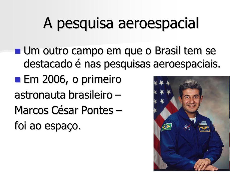 A pesquisa aeroespacial