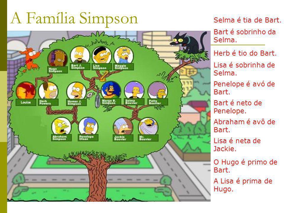 A Família Simpson Selma é tia de Bart. Bart é sobrinho da Selma.